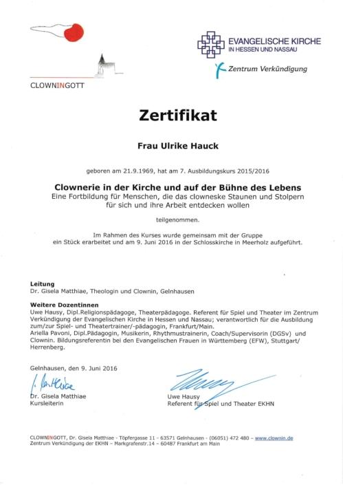 Zertifikat_Clownerie_Ulrike_Hauck